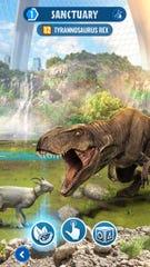 Hunt dinosaurs in 'Jurassic World Alive.'