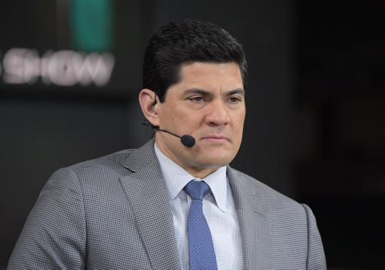 Jan 30, 2017: New England Patriots former player Tedy Bruschi during Super Bowl LI Opening Night at Minute Maid Park.