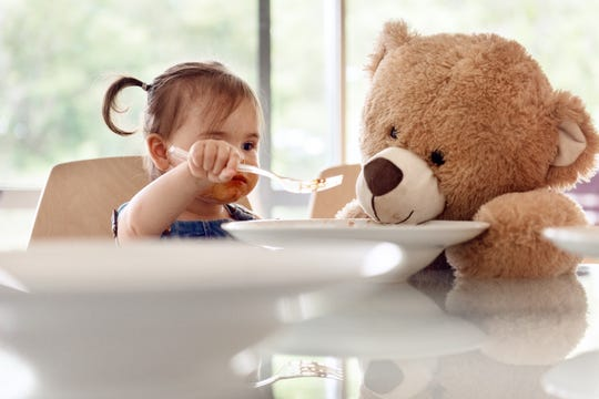 A nutritionist has better tactics for getting a toddler to eat healthy foods.