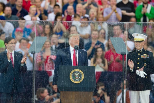 President Donald Trump during his July 4 speech