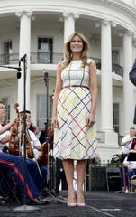 First Lady Melania Trump at the Congressional Picnic on the South Lawn  of the White House on June 22, 2017.
