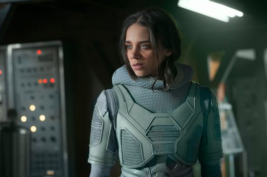 "Ghost (Hannah John-Kamen) isn't entirely bad, but she still makes trouble in ""Ant-Man and the Wasp."""
