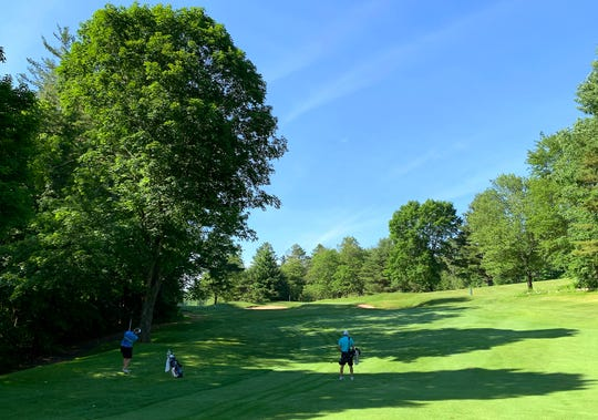 Rutland Country Club's par-4 11th hole features a sharp dogleg left to a narrow green that runs front-to-back.