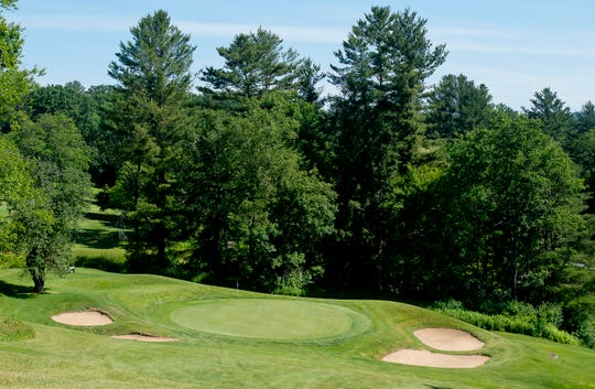 The par-3 15th hole, with its small, steep green is the shortest at Rutland Country Club, site of the 2019 Vermont Amateur golf championship.
