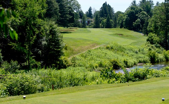 Rutland Country Club's par-4 seventh hole plays slightly uphill as it crosses the East Creek.