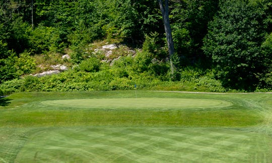 Expect the long par-3 fifth hole to play over par at Rutland Country Club during the 2019 Vermont Amateur golf championship.