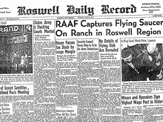 "On July 8, 1947, a headline in the local paper in Roswell, New Mexico ignited 70 years of ""flying saucer"" sightings."