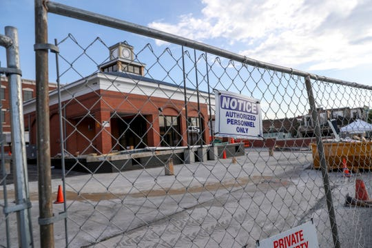 Fences placed up on Legion Street block off the Clarksville Transit Center as it is renovated at Clarksville Transit Center in Clarksville, Tenn., on Friday, July 5, 2019.