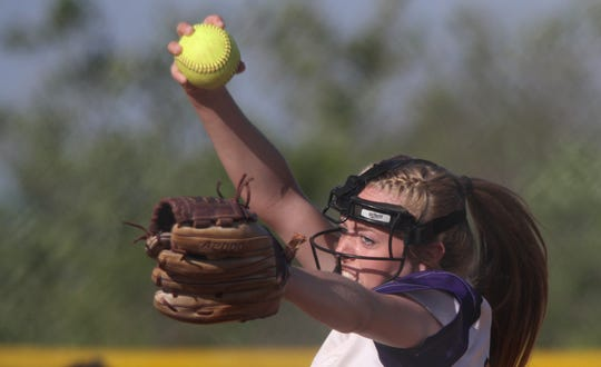 Norwalk sophomore Kate Kralik pitches against Urbandale. Indianola beat Urbandale 10-0 in the first game of a July 2 doubleheader in Indianola.