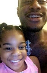 Lyric Jones, 5, pictured here at age 4 with her father, Randell Fuller, died June 25, 2019 from blunt force trauma. Lyric's mother, Steffani Jones, 26, and the mother's boyfriend, Michael Deshawn Lewis, 30, have been charged with killing her.
