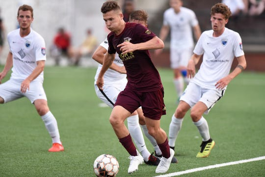 Detroit City FC midfielder Bakie Goodman earned Man of the Match honors for his play in Saturday's 3-0 win over Napa Valley 1839 FC.