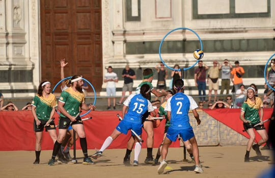 Quidditch World Cup city welcoming ceremony in Florence, Italy, 27 June 2018.