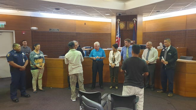 Two participants recently completed the Driving While Impaired Treatment Court Program.