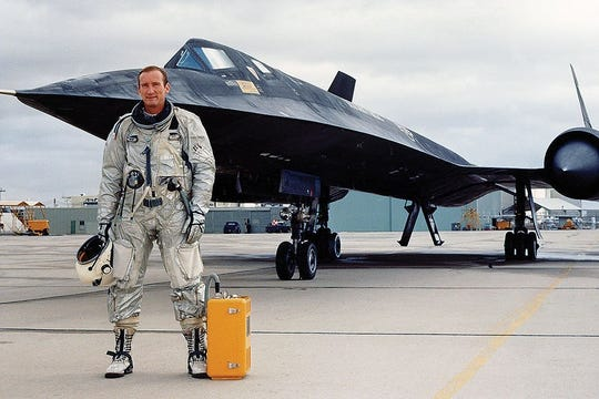 "Robert ""Bob"" Gilliland, chief test pilot of the Lockheed SR-71 Blackbird, became the first person to fly the spy plane on Dec. 22, 1964. Gilliland died July 4, 2019, at 93 years old, in Rancho Mirage."
