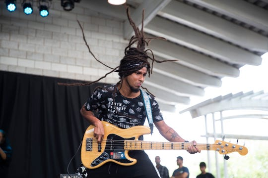 Thaikkudam Bridge performs at Summerfest's Johnson Controls World Sound Stage on July 6, 2019.