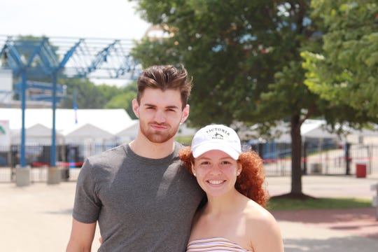 Liam Klein and Brianna Eilenfeldt came to the festival together for the Billie Eilish show Saturday nightand have been listening to the singer for a few months.