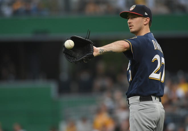 Zach Davies is the latest Brewers starting pitcher to catch the injury bug as he was placed on the injured list Monday with back spasms.