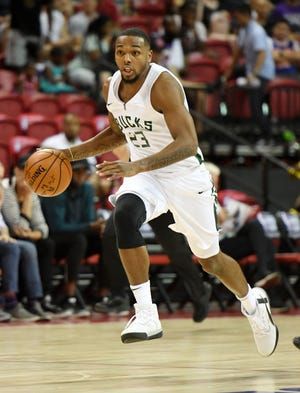 Sterling Brown is playing for the Bucks' summer league team in Las Vegas.