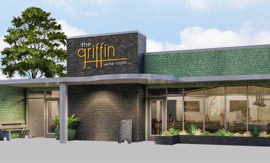 This rendering shows what The Griffin Wine Room is planned to look like upon completion.