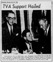 Sen. John F. Kennedy visited Nashville in 1959 in the run-up to his campaign for president. He attended a Democratic Party banquet with Tennessee senators Estes Kefauver and Albert Gore Sr.