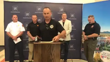 UNR, police and fire officials provide updates on July 6, 2019 about the dorm explosion on July 5, 2019.