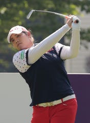 Ariya Jutanugarn hit off the tee on the fifth hole Saturday during the third round of the Thornberry Creek LPGA Classic in Hobart.