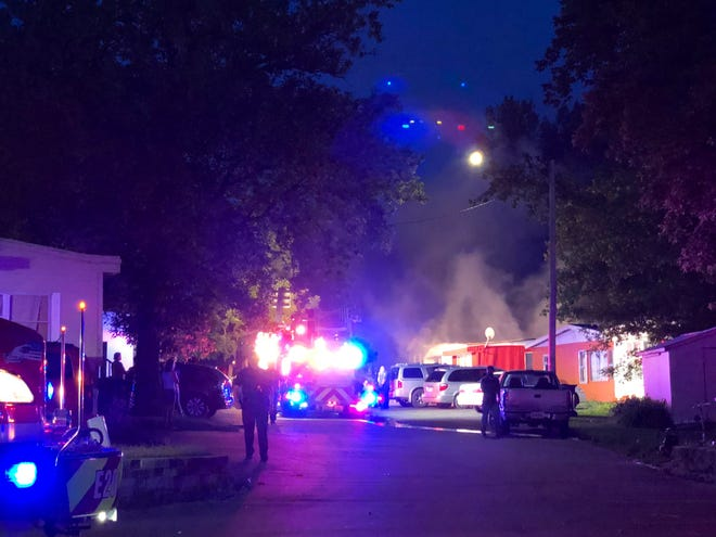 Crews responded to a report of a structure fire on the 1900 block of Tombill Place around 9:30 p.m. Friday.
