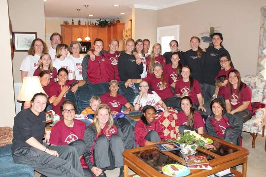 The FSU softball team's final visit to see Taylor Foster in 2014.