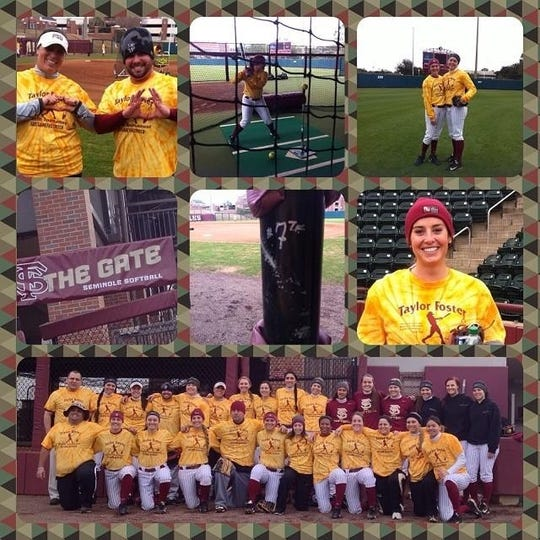 A collage Taylor Foster made of a camp FSU held in her honor.