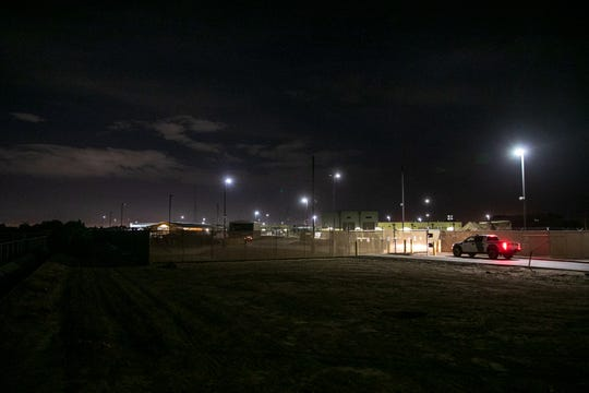 A CBP truck enters the Clint, Texas, facility on July 4, 2019.