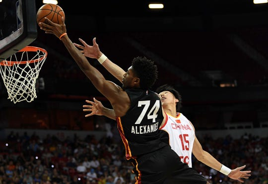 Heat forward Kyle Alexander averaged 6.0 rebounds and 4.8 points in 15.6 minus per game in the Las Vegas summer league.