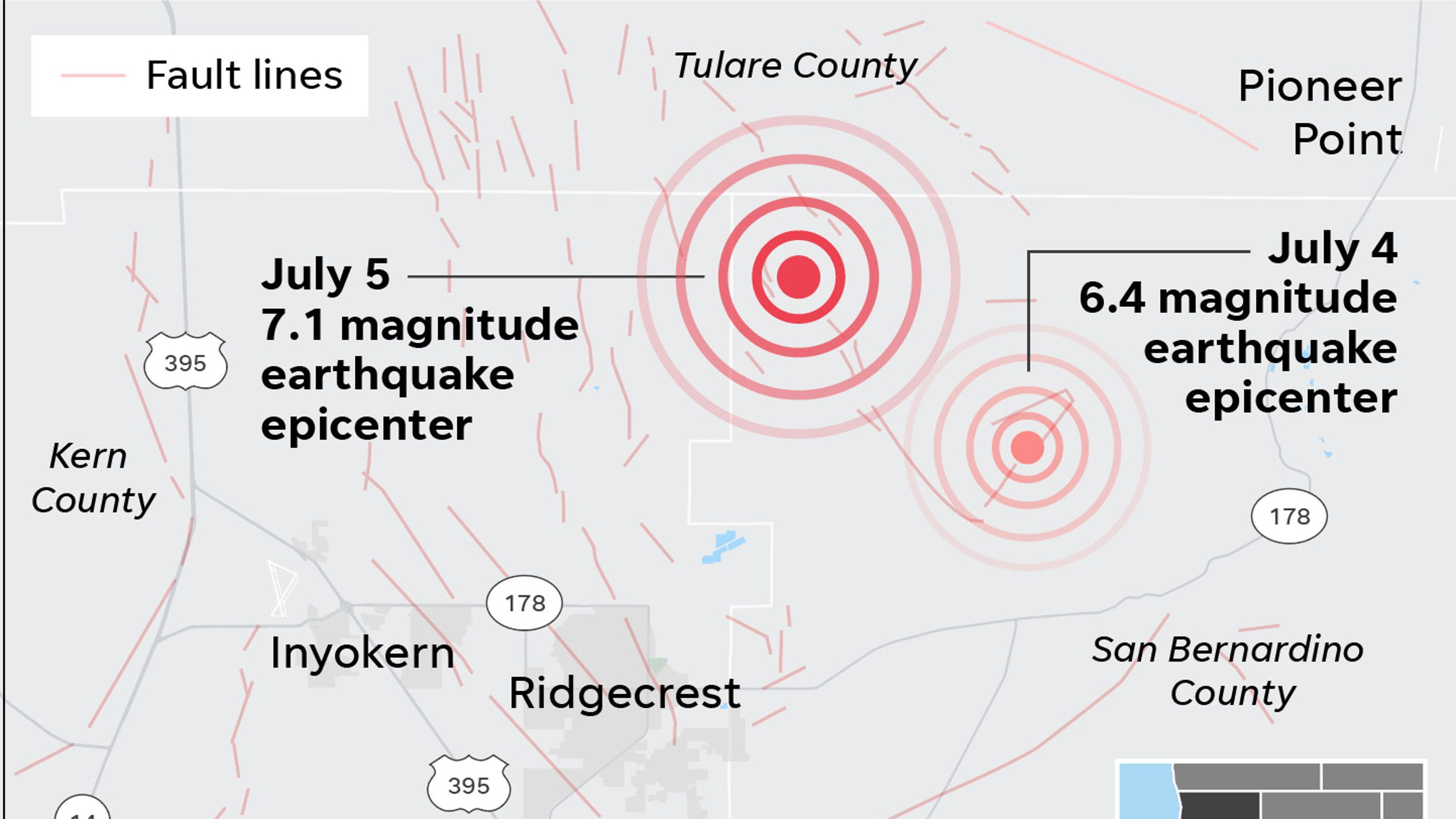 No, the Ridgecrest earthquakes weren't along the San Andreas