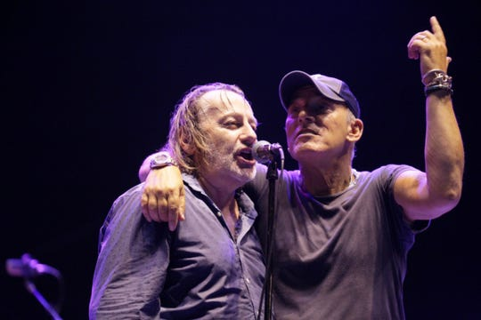 Bruce Springsteen on stage with Southside Johnny at the Stone Pony in Asbury Park on Saturday, June 6, 2019.