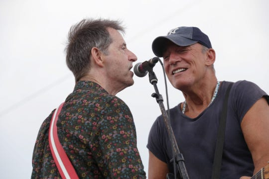 Bruce Springsteen on stage with Garry Tallent at the Stone Pony in Asbury Park on Saturday, July 6, 2019.