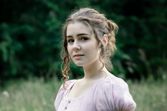 "Citori Luecht plays Celia in BPA's production of Shakespeare's ""As You Like It"" at the Bloedel Reserve."