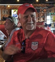 Satellite Beach's Mike Harris, father of Team USA goalkeeper Ashlyn Harris, enjoyed Sunday's watch party as his daughter claimed her second straight World Cup medal.