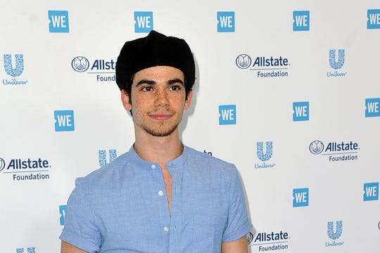 In this April 25, 2019, file photo, Cameron Boyce arrives at WE Day California at The Forum in Inglewood, Calif.