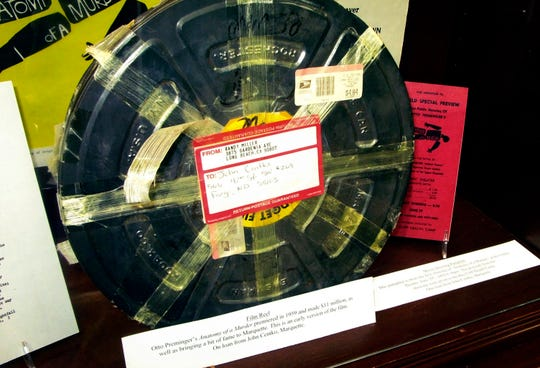 "An early reel of the movie ""Anatomy of a Murder"" is seen at the Beaumier U.P. Heritage Center in Marquette."