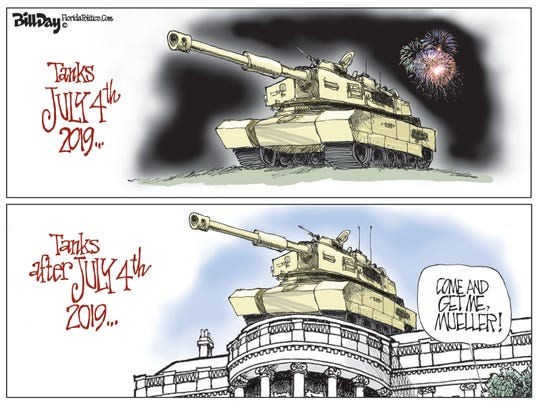 Trump with tank at White House.