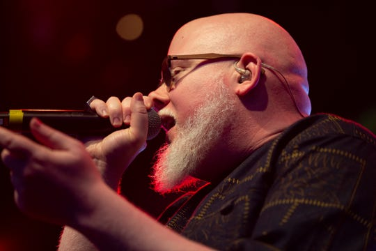 Brother Ali performs at the Miller Lite Oasis on July 6, 2019, as part of the Rhymesayers Entertainment showcase.