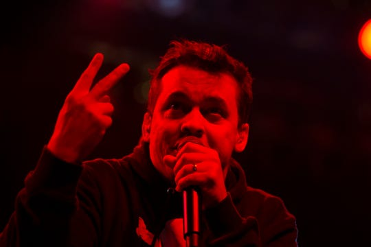 Atmosphere performs at the Miller Lite Oasis on July 6, 2019, as part of the Rhymesayers Entertainment showcase.