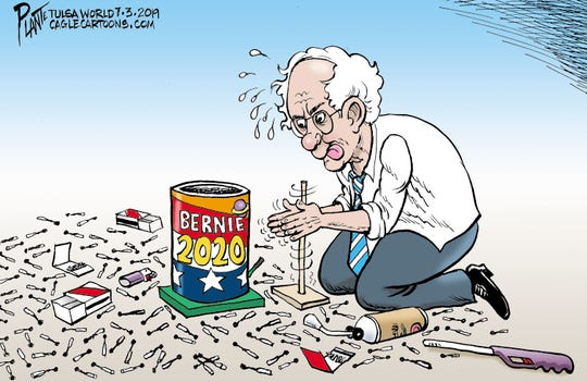 Bernie Sanders tries to spark fireworks in his campaign.