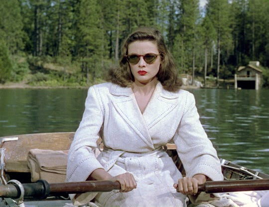 "Gene Tierney starred in ""Leave Her to Heaven,"" showing Sunday in Carrizozo and filmed in part in New mexico."
