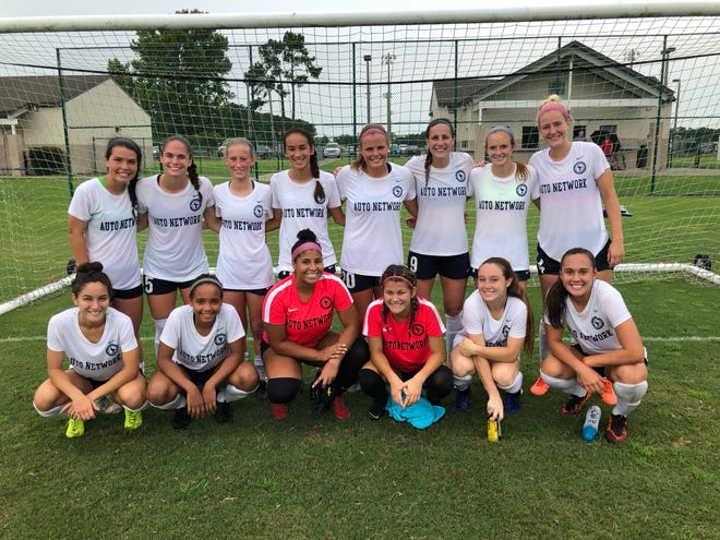 Pensacola FC Women Academy team is pictured after a 3-1 win over Baton Rouge in the 2019 season. Pensacola FC is fielding a second team in the WPSL that features several local high school  players, such as recent Navarre grad Anakah Madril (back, far left) and recent Gulf Breeze grad Kristen Goodroe (back, second from right).