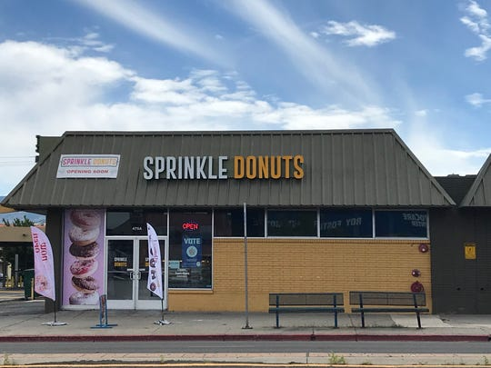 Sprinkle Donuts now is open in a former dry cleaners in the Keystone Square center on Keystone Avenue in Reno.
