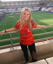 Recent Lincoln High grad and 2019 All-Big Bend Player of the Year McIver Levy hangs out in Reims, France as the U.S. Women's National Team played Spain during a Round of 16 game at the Women's World Cup.