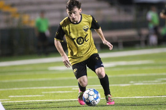 Tallahassee Soccer Club midfielder Johnny Fitzgerald scored the game-winning goal in the 46th minute as TLHSC beat Hattiesburg FC 1-0 on Saturday, July 6, 2019, to clinch a Gulf Coast Premier League playoff berth in its last home game of its inaugural season.