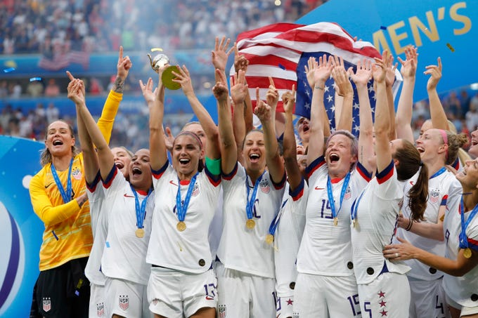United States celebrates winning the World Cup.