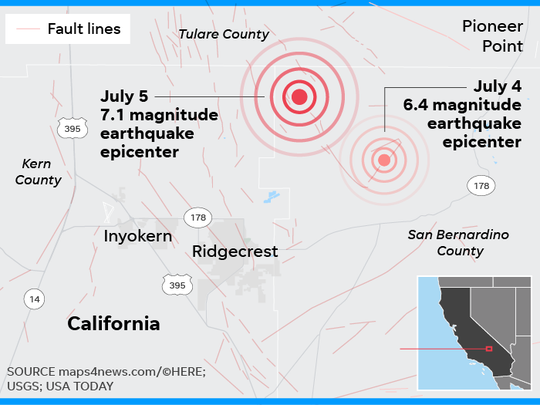 California earthquakes: USGS quells fear of 'The Big One'