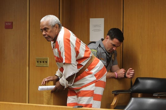 Thomas C. Hatchett, 86, accused of killing 71-year-old Igal Hedad in Leisure Village in Manchester on July 1, 2019, makes his first appearance before Judge Wendel E. Daniels at Ocean County Courthouse in Toms River, NJ Monday July 8, 2019.